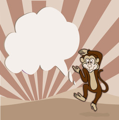 Monkey Jumping in the morning.