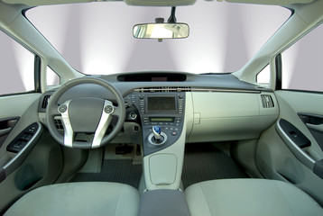 Wall Mural - interior of the modern hybrid car