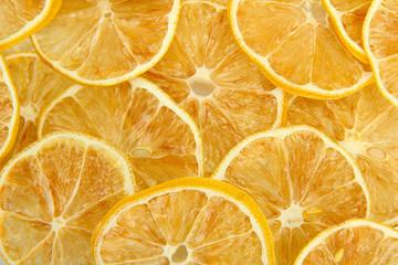 Tuinposter Plakjes fruit dried lemons, close up