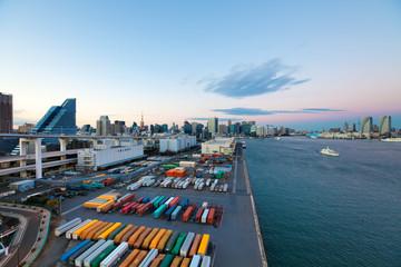 Hafenterminal in Tokio