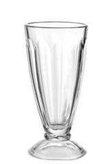 Empty glass for a milkshake