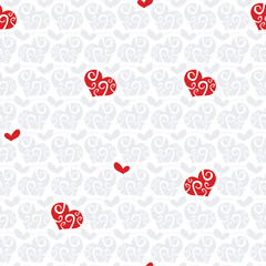 Hearts lovely seamless pattern