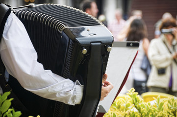 Accordion player detail