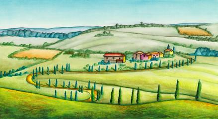 Poster Ranch Rural landscape