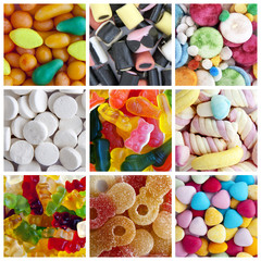 candy collage