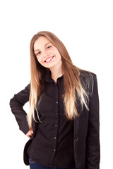 Pretty young business woman posing