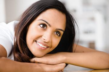 Beautiful Indian Girl Happy Smiling Portrait