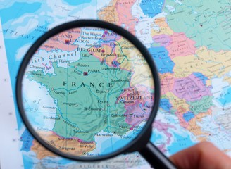 Map and Zoom Lens, France