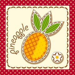 pineapple. Card