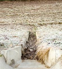 concrete drainage ditch
