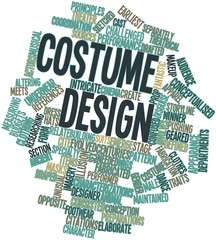 Word cloud for Costume design