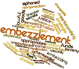 Word cloud for Embezzlement
