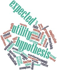 Word cloud for Expected utility hypothesis