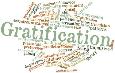 Word cloud for Gratification