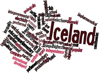 Word cloud for Iceland