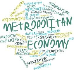 Word cloud for Metropolitan economy