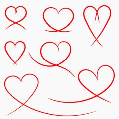 schwungvolle Herzen