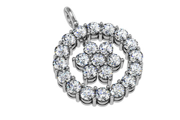 The beauty diamond pendant