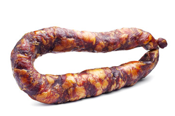Thin smoked sausage