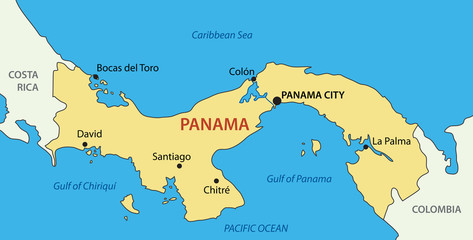 Republic of Panama - vector map