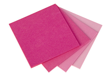 Colorful  note papers on white background
