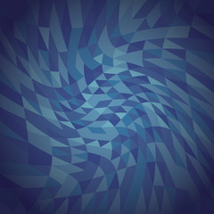 abstract blue twisted triangles background