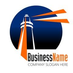 lighthouse logo vector