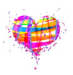 St. Valentin's rainbow heart