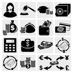 Finance icon set. Money Icon Set. Vector