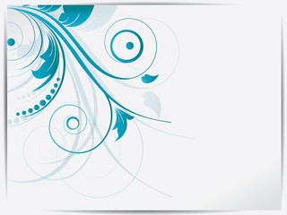 Abstract floral background for design with swirls