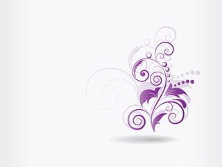 Abstract floral background with swirls