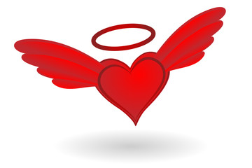Heart with Wings and Halo