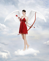 Cupid in clouds