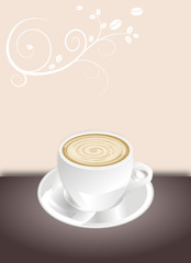 Karte für Cafe
