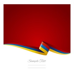 Abstract color background Armenian flag vector