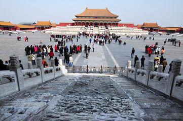Fotobehang Beijing The Forbidden city in Beijing China