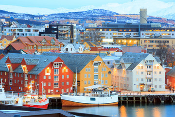 Photo sur Toile Scandinavie Tromso Cityscape