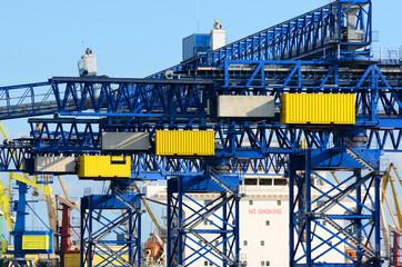 cargo crane. Ventspils terminal, Latvia