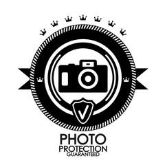 Black retro vintage label | tag | badge | photo protection