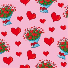 Seamless valentines hearts