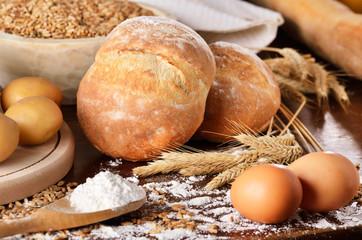 Homemade bread scene