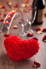 Romantic dinner. Valentines day.