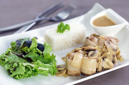 paupiettes de veau riz et champignons 2