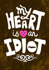 Vintage Saint Valentine's typography vector illustration.