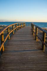 Footbridge towards the Mediterranean