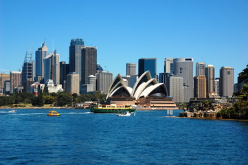 Photo sur Plexiglas Sydney View on the Sydney Opera House. Sydney, Australia
