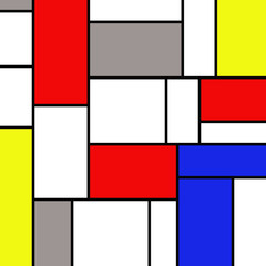 Colorful rectangles in mondrian style