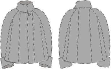 Vector illustration of women's fur coat