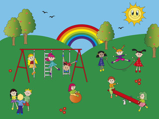 Canvas Prints Rainbow playground