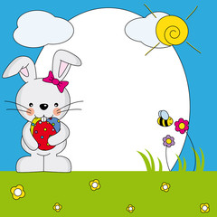 Marco conejo de Pascua